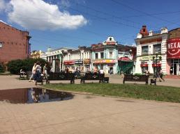 Fussgängerzone von Irkutsk.