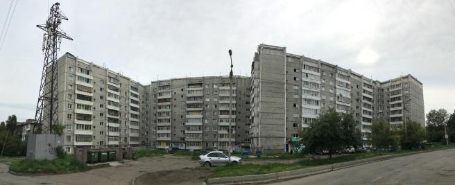 Plattenbauten aus der Sowjetzeit tragen in Russland den Namen Chruschtschowkas.