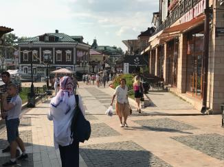 Die Touristenmeile in Irkutsk, das 130. Quartier